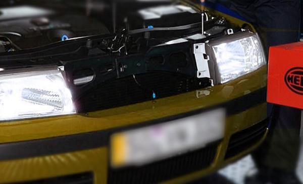 Regulación de las luces del coche